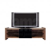 Televizní stolek ořech merano/černý lesk VENOM RTV1S