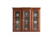 Prosklená vitrína ořech vlašský BAWARIA DNAD 3W/113
