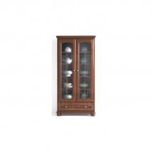 Prosklená vitrína ořech vlašský BAWARIA DWIT 2D1S