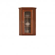 Prosklená vitrína rohová ořech vlašský/kaštan BAWARIA DNAD 1WN