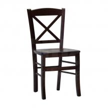Židle jídelní dřevěná hnědá CROSS