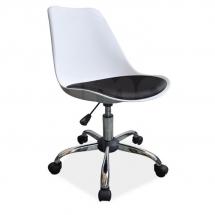 Židle kancelářská bílá Q-777