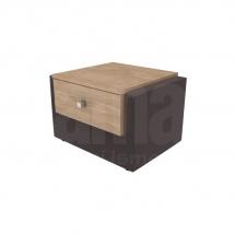Noční stolek čalouněný hnědý MOMENT STNT.1S