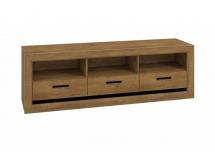Televizní stolek dub lefkas/černá BALTICA 12