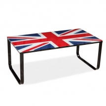 Stolek konferenční kovový se sklem Velká Británie TAXI II