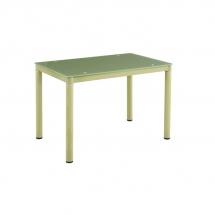 Stůl jídelní skleněný béžový GALANT