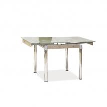 Stůl jídelní skleněný tmavý béžový GD-082