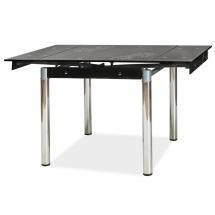 Stůl jídelní skleněný černý GD-082