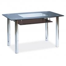 Stůl jídelní skleněný černý TWIST A