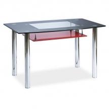 Stůl jídelní skleněný černý/červený TWIST A