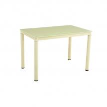 Stůl jídelní skleněný krémový GALANT