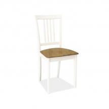 Židle jídelní dřevěná čalouněná bílá CD-63