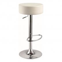 Židle barová bílá A-042
