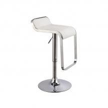 Židle barová bílá C-621