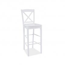 Židle barová bílá CD-964