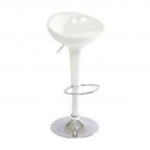 Židle barová bílá Krokus A-148