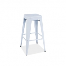 Židle barová bílá LONG
