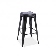 Židle barová černá LONG