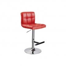 Židle barová červená C-105