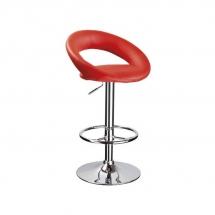 Židle barová červená C-300
