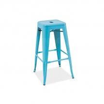 Židle barová modrá LONG