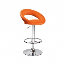 Židle barová oranžová C-300