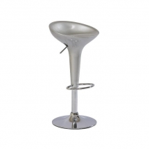 Židle barová stříbrná Krokus A-148