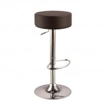 Židle barová tmavě hnědá A-042