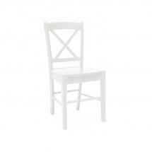 Židle jídelní dřevěná bílá CD-56