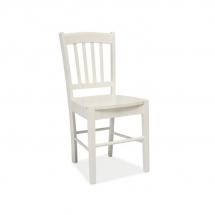 Židle jídelní dřevěná bílá CD-57