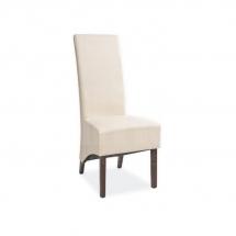 Židle jídelní dřevěná čalouněná béžová DONADONI