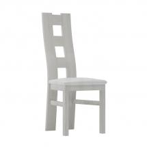 Židle jídelní dřevěná čalouněná bílá JARSTOL