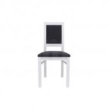Židle jídelní dřevěná čalouněná bílá PORTO