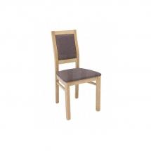 Židle jídelní dřevěná čalouněná dub PORTO