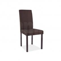 Židle jídelní dřevěná čalouněná hnědá CD-42