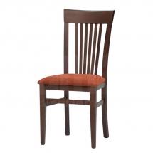 Židle jídelní dřevěná čalouněná hnědá K1