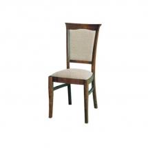Židle jídelní dřevěná čalouněná kaštan KENT EKRS