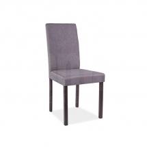 Židle jídelní dřevěná čalouněná šedá CD-42