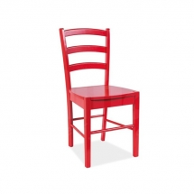 Židle jídelní dřevěná červená CD-38
