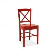 Židle jídelní dřevěná červená CD-56