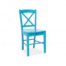 Židle jídelní dřevěná modrá CD-56