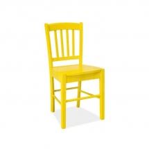 Židle jídelní dřevěná žlutá CD-57