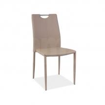 Židle jídelní kovová čalouněná béžová H-322