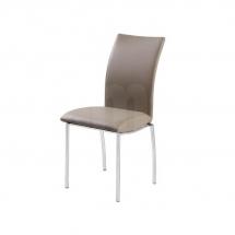Židle jídelní kovová čalouněná béžová H-503