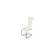 Židle jídelní kovová čalouněná bílá H-224