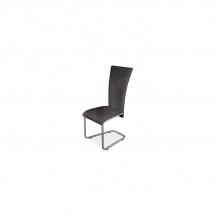Židle jídelní kovová čalouněná černá H-224