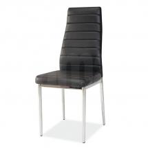 Židle jídelní kovová čalouněná černá H-261