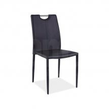 Židle jídelní kovová čalouněná černá H-322