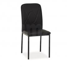 Židle jídelní kovová čalouněná černá H-623