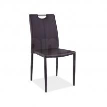Židle jídelní kovová čalouněná hnědá H-322